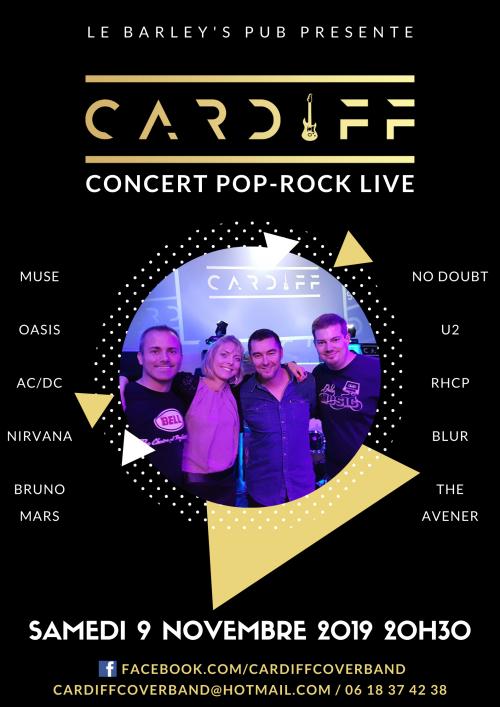 Cardiff en concert Pop-Rock live