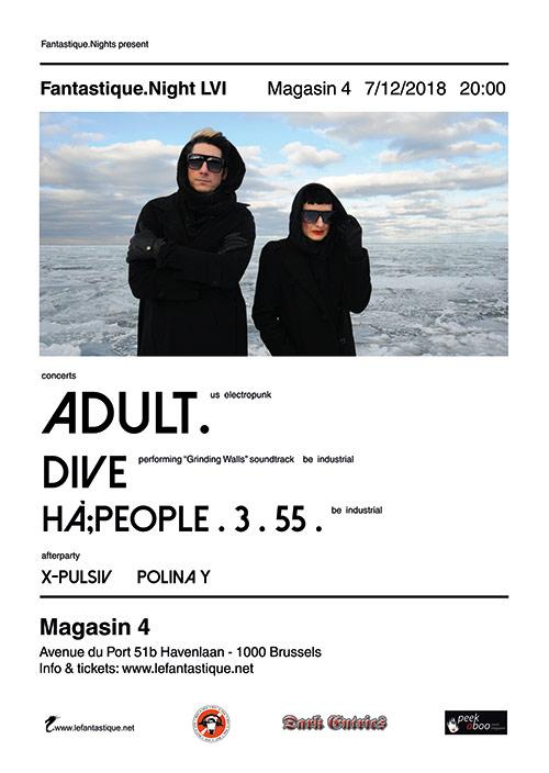 ADULT. + Dive + Hà;PEOPLE 3 55 + Afterparty