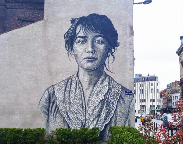 La plan des parcours street art à visiter à Roubaix