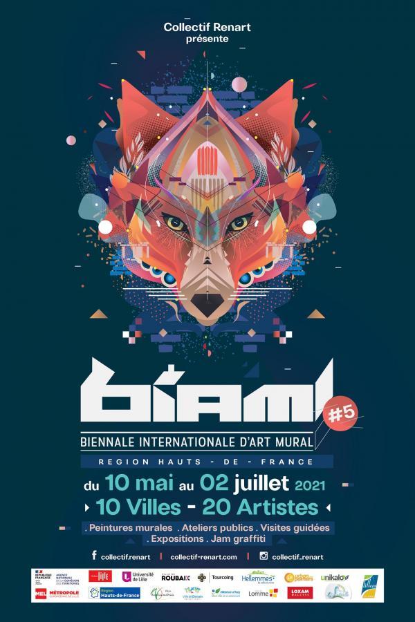 La 5ème édition de La Biennale Internationale de l'Art Mural a débuté dans la métropole lilloise