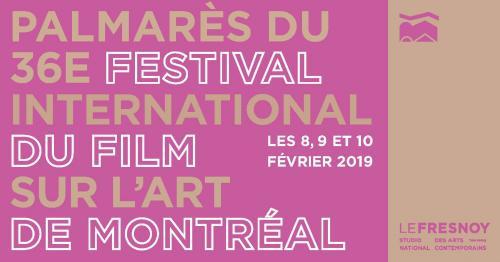 Palmarès du festival international du film sur l'art de Montréal
