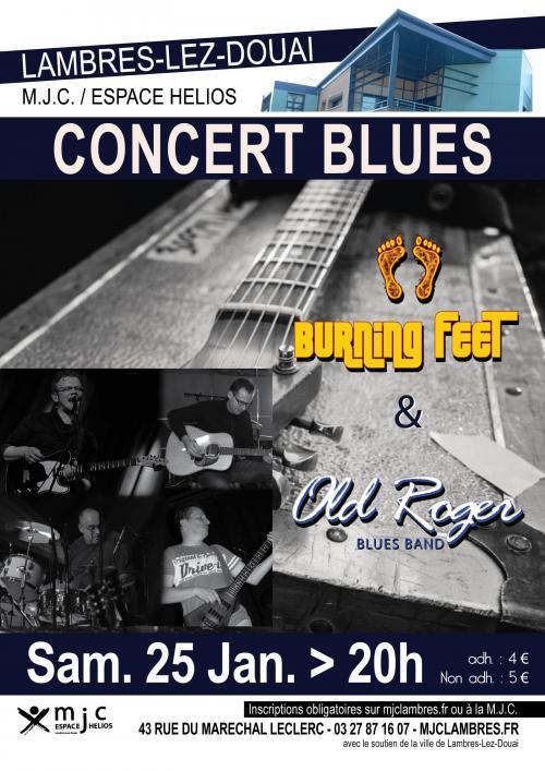 Concert de blues avec Old Roger + Burning Feet