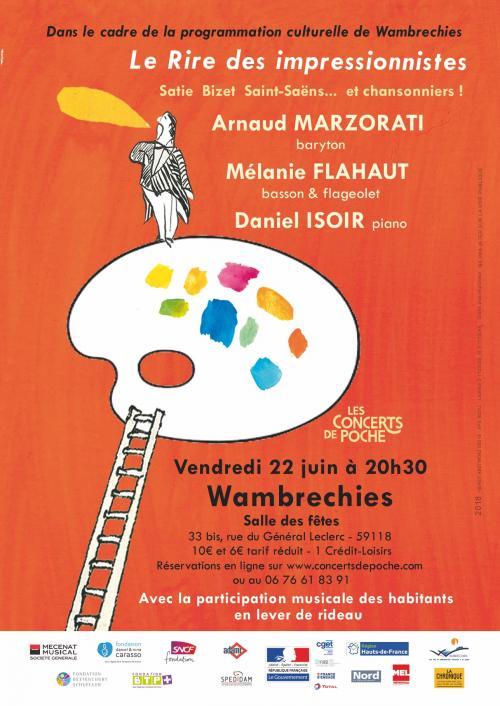 Arnaud Marzorati, Daniel Isoir et Mélanie Flahaut à Wambrechies