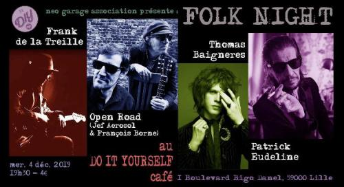 Folk Night : Frank de la Treille + Open Road