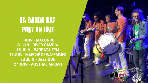 La Banda Baf part en live au Jazzique