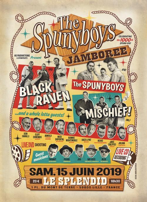 Spunyboys Jamboree, the 1000th spuny gig !