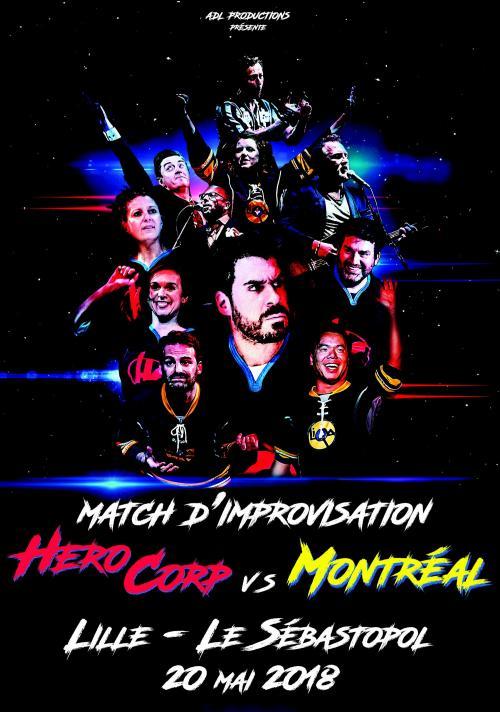 Hero Corp VS Montréal, le match d'improvisation