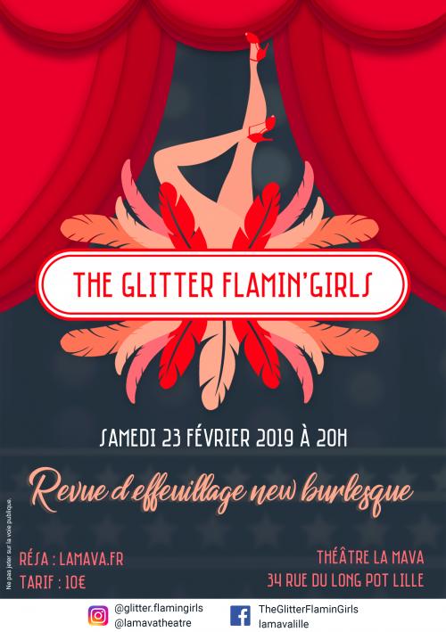 Glitter Flamin'Girls – Effeuillage burlesque