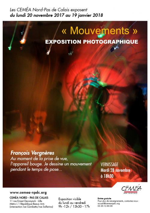Vernissage de l'Exposition « Mouvements » de Francois Vergneres