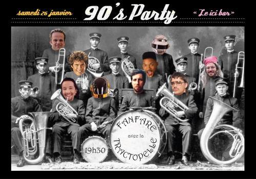 90's party avec la Fanfare Tractopelle
