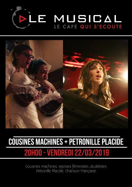 Les Cousines Machines + Pétronille Placide