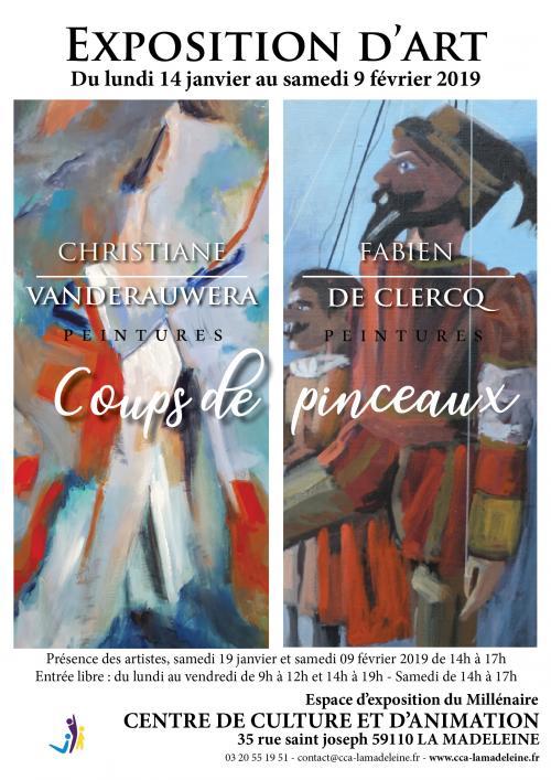 Coups de pinceaux de Christiane Vanderauwera / Fabien de Clercq