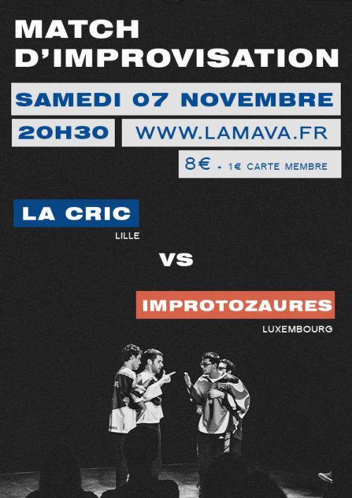 Match d'impro : CRIC vs Improtozaures