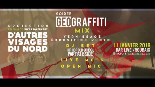 Géograffiti Mix : projection, expo, sets…