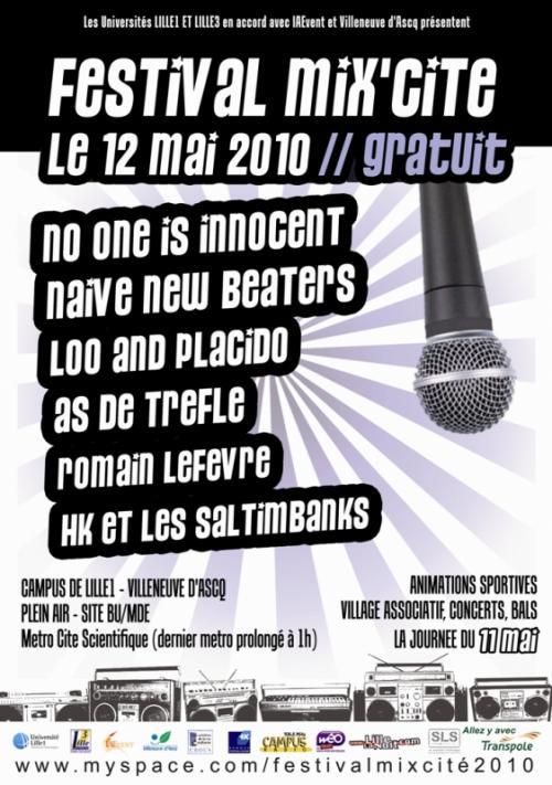 No One Is Innocent, Naive New Beaters, HK & les Saltimbanks, Romain Lefevre, As de Trèfle…