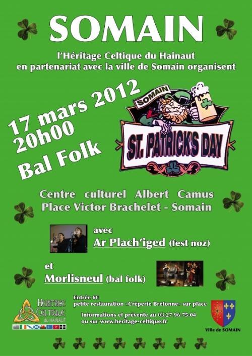 Nuit de la St Patrick - Fest Noz - Bal folk - Soirées