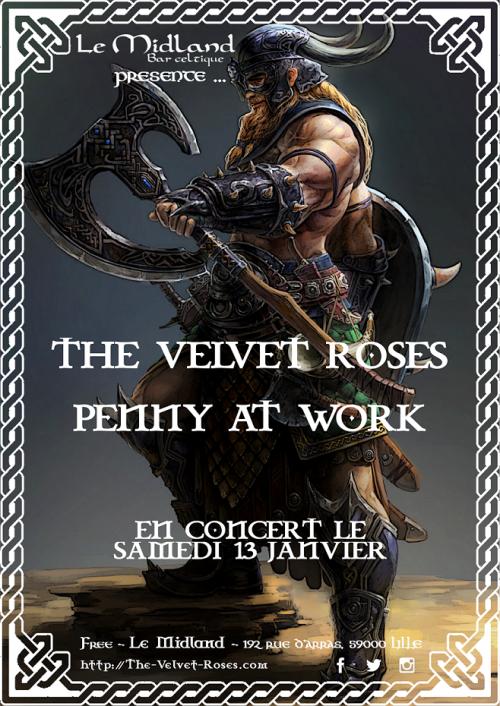 The Velvet Roses + Penny At Work