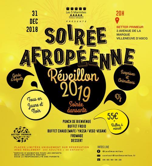 Réveillon St Sylvestre – Soirée afropéenne by les 5 marmites
