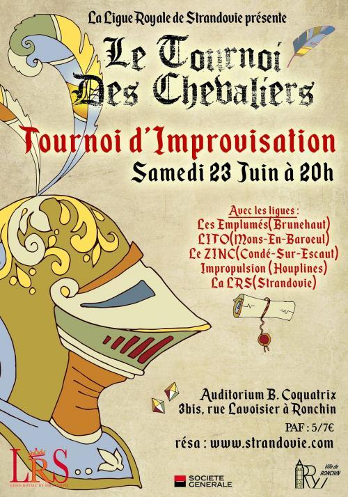Le tournoi des chevaliers strandoviens, spectacle d'improvisation
