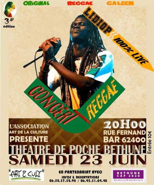 Concert Reggae à Béthune avec l'association Art de la Culture