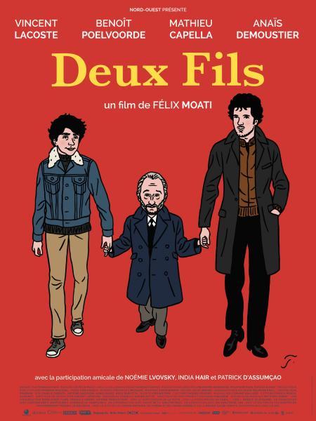 «Deux Fils» : Benoît Poelvoorde, Vincent Lacoste et Anaïs Demoustier dans la balade nocturne de Félix Moati