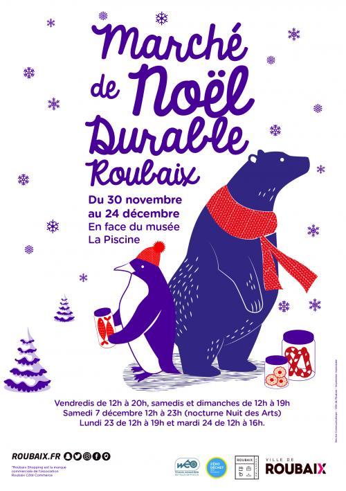 Marché de Noël durable de Roubaix