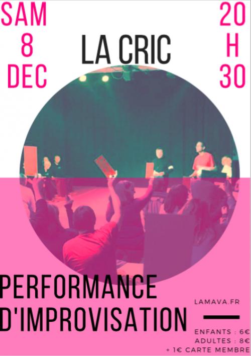 Performance d'improvisation – La Cric