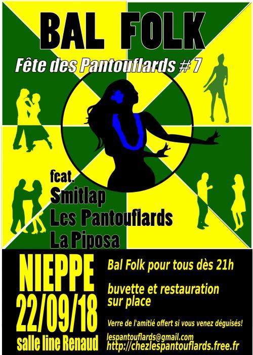 Bougetonbal #7 : bal folk avec Smitlap, la Piposa et les Pantouflards
