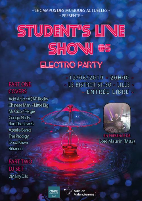 Electro party – Student's live show #5