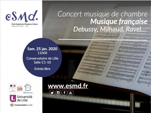 Musique Française – Concert par l'ESMD