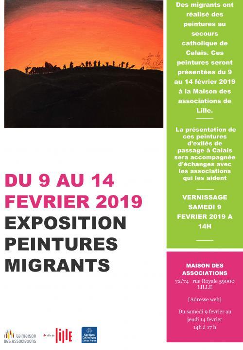 Une exposition de peintures réalisées par des migrants