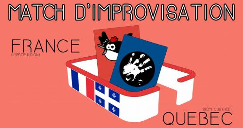 Match improvisation : France VS Québec