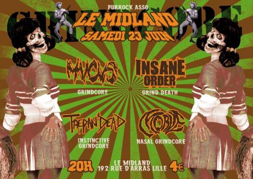 Mucus + Insane Order + Trepan'dead + Morve en concert au Midland