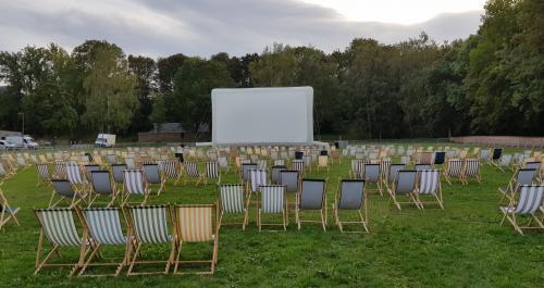 Cinéma en plein air à Lesquin