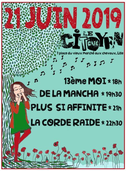 Le Café Citoyen accueille 4 groupes pour la Fête de la musique