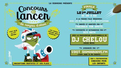 Finale du Concours de Lancer de Noyau d'Olive avec DJ Chelou !