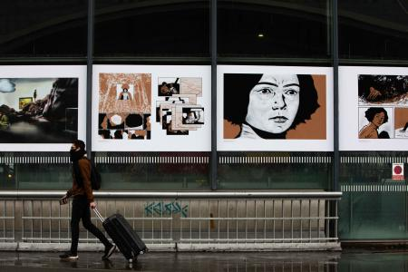 La bande dessinée exposée en Gare de Lille-Europe