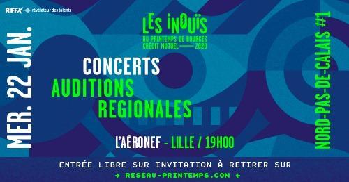 Les iNOUïS du Printemps de Bourges à l'Aéronef
