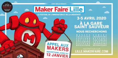 Maker Faire investit la Gare Saint-Sauveur en 2020