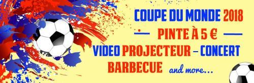 Coupe du Monde O'Mulligan's : BBQ sur la terrasse, vidéo-projecteur, Fête de la Musique…