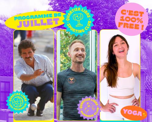 Quartier Libre Sporting Club : Pétanque, Running et Yoga