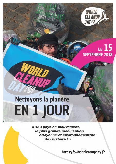 """Participons au World CleanUp Day pour """"nettoyer la planète en 1 jour"""" !"""
